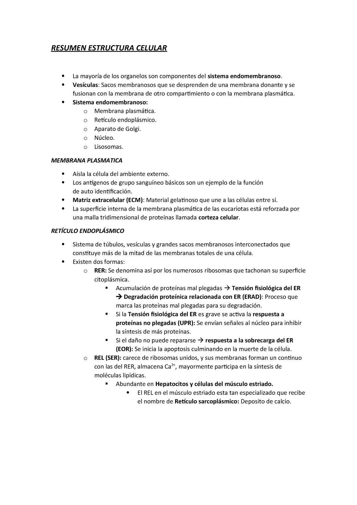 Fisiología 12 Estructura Celular Fis Uady Studocu