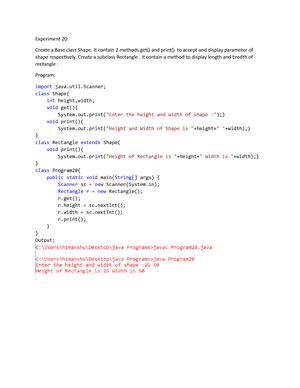 Javaprogram 20-24 - JAVA - StuDocu