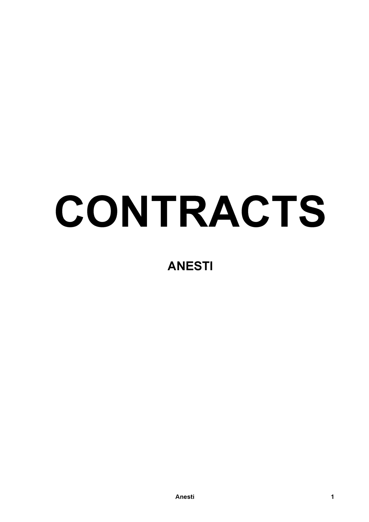 Contracts Notes Anesti - Final - LAWS50029 - StuDocu