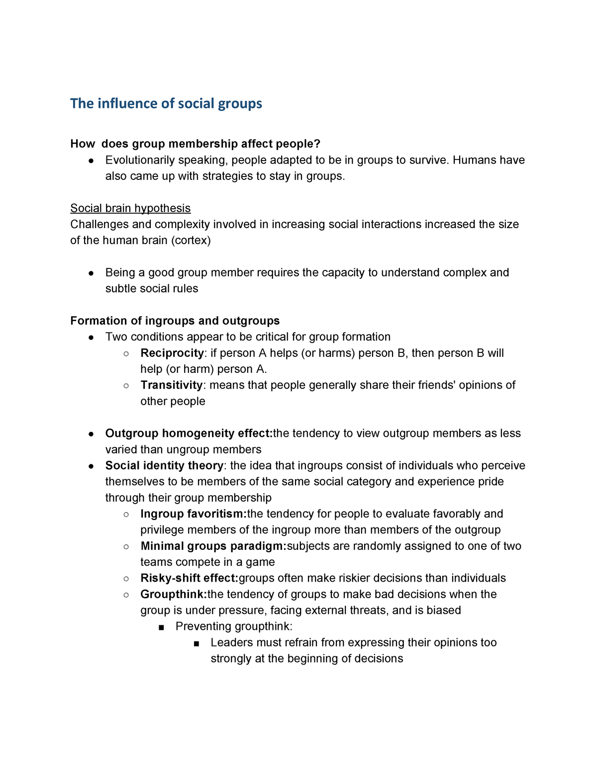 Social psychology part 2 - PSY 202: Mind And Society >2