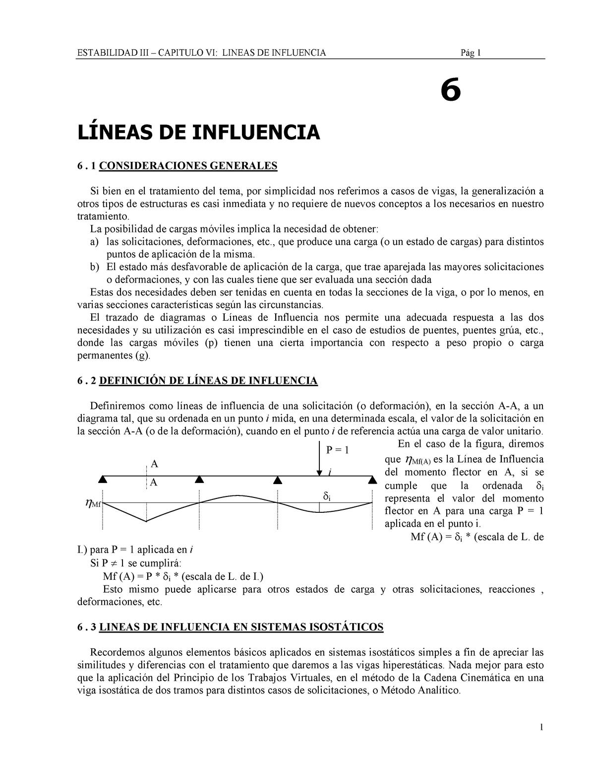 Líneas De Influencia Teoría De Estructuras 68033117 Uned