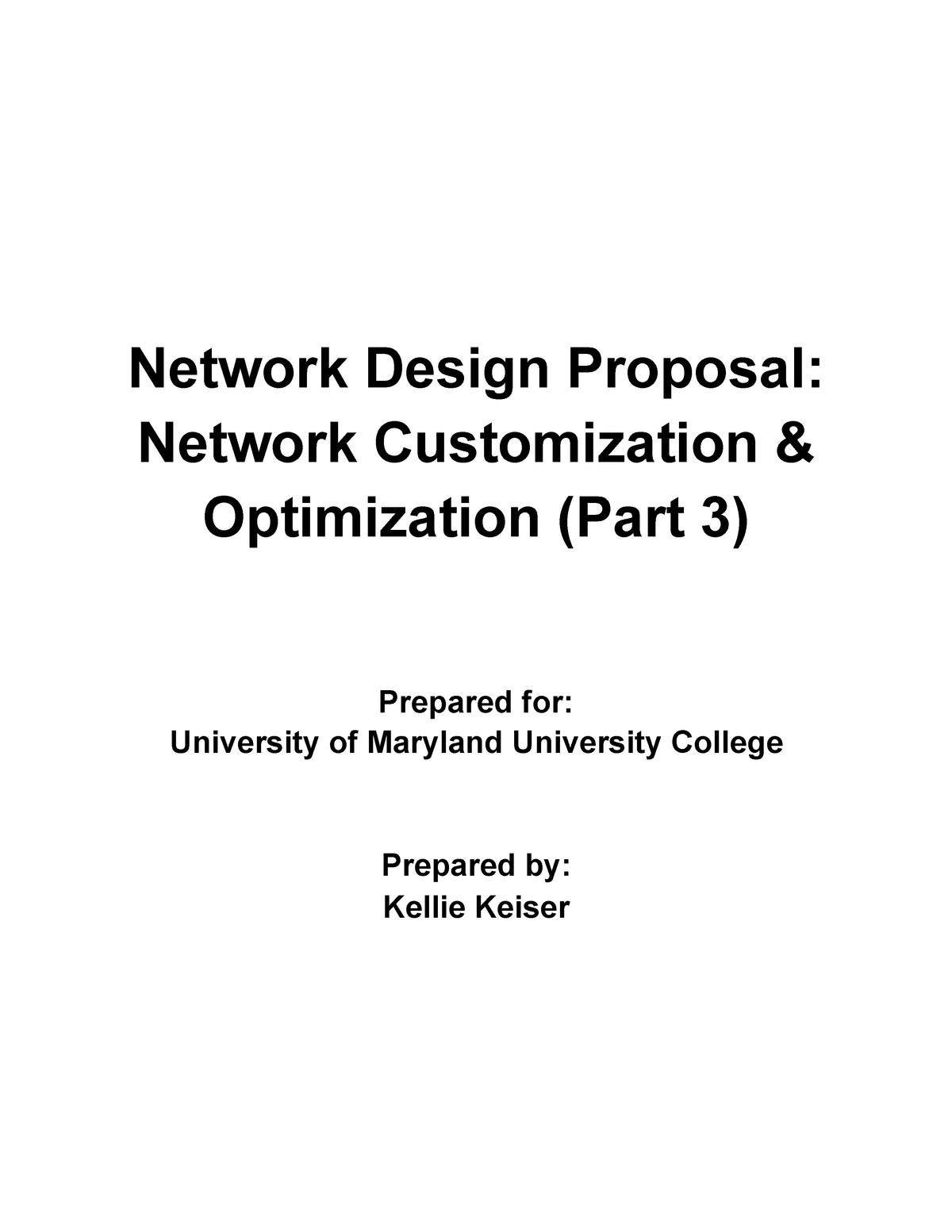 Network Design Proposal Part 3 - CMIT 265 - UMUC - StuDocu