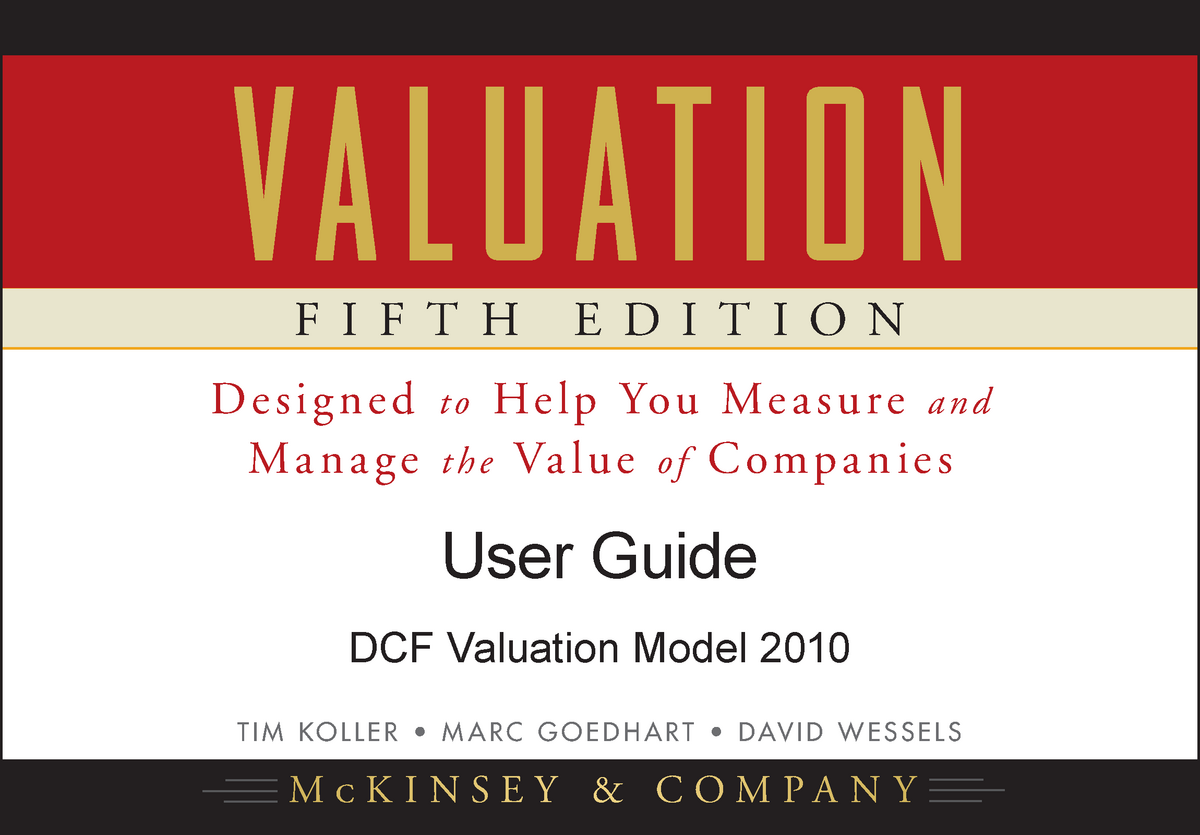 KGW Valuation Model User Guide - FINM3005: Corporate