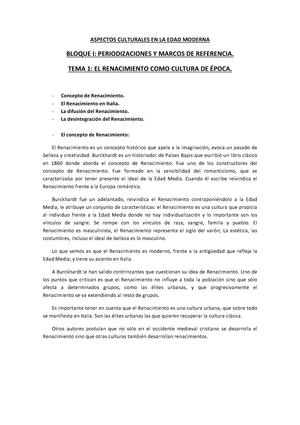 Apuntes de Aspectos Culturales en La Edad Moderna - 101948: Aspectos ...
