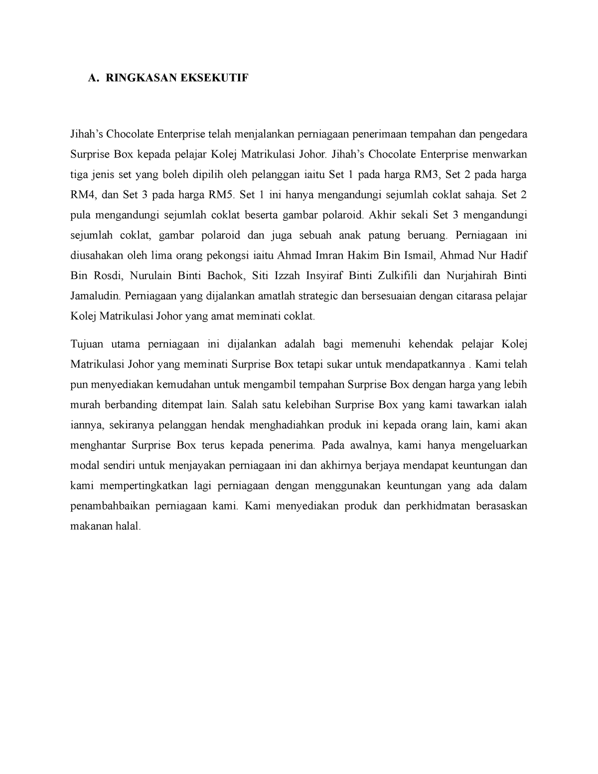 Ringkasan Eksekutif Executive Summary Malay Ringkasan Eksekutif Jihah Studocu