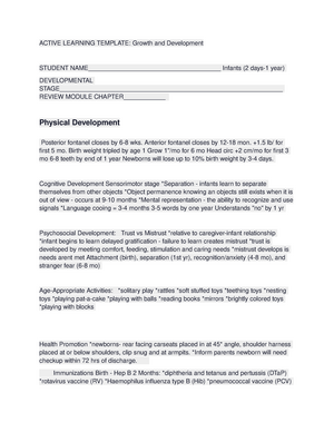Active Learning Template Growth And Development Lincoln Studocu