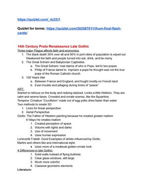Ihum 201 Final Lecture Notes 10 13 Ihum 201 Byu Studocu