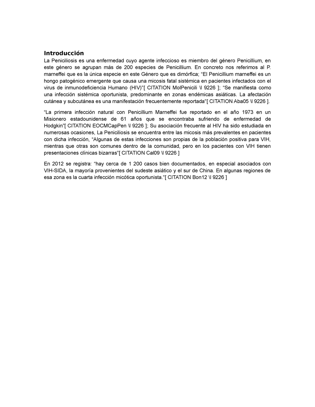 infección parasitaria oportunista en casos de sida