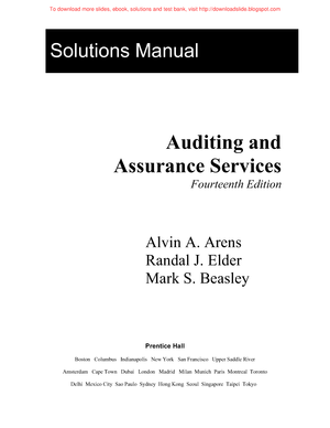 Arens elder beasley auditing and assurance services an arens elder beasley auditing and assurance services an integrated approach 14e solutions manual studocu fandeluxe Image collections