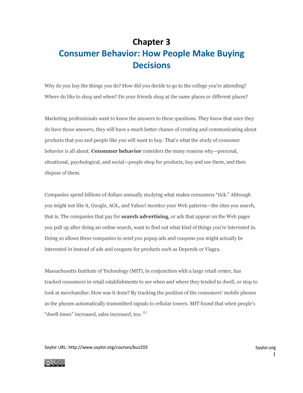 350142453912 Summary / Summary Chapter 3: Consumer Behaviour: How People - StuDocu
