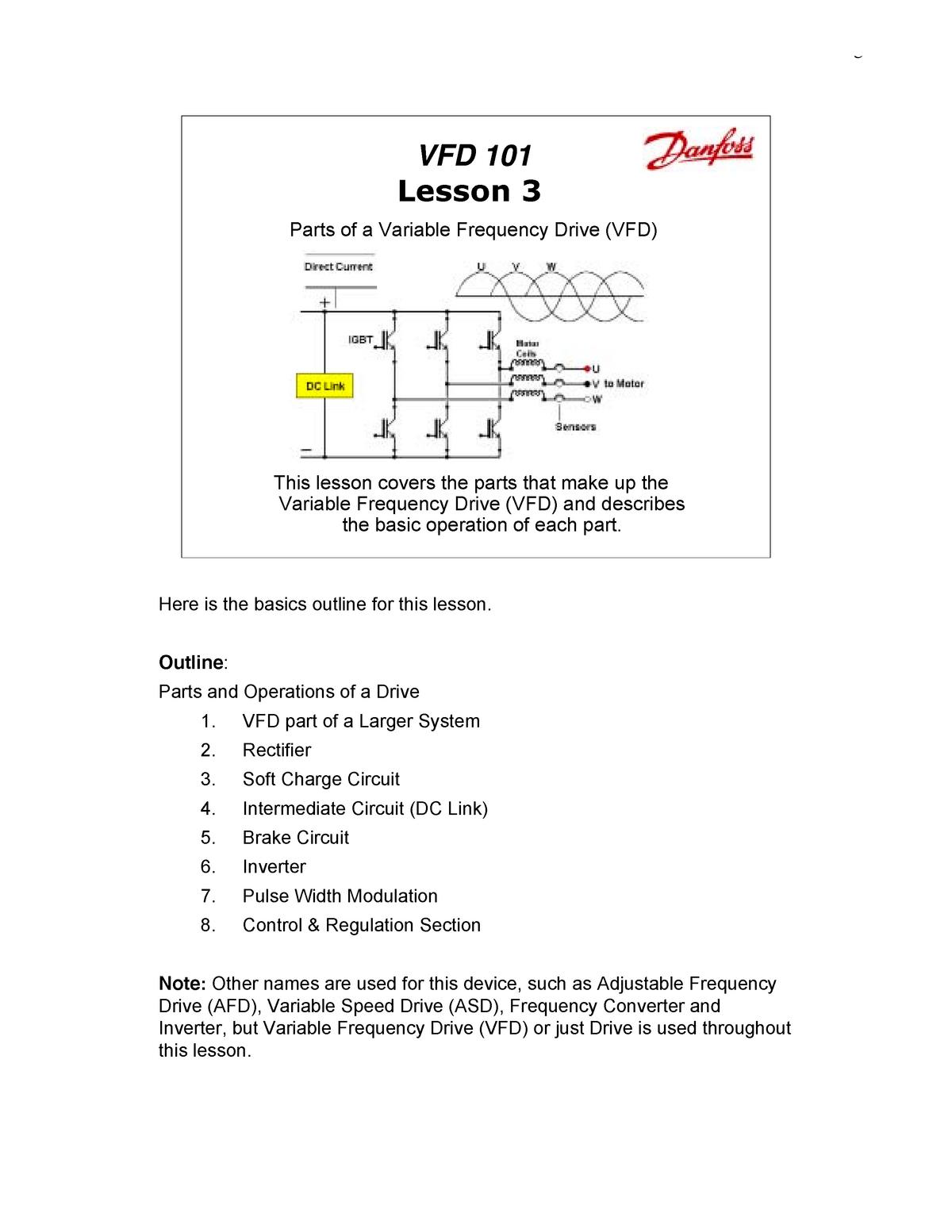 ENEL 472 VFD Lessons - ENEL 472: Power Systems Fundamentals - StuDocu