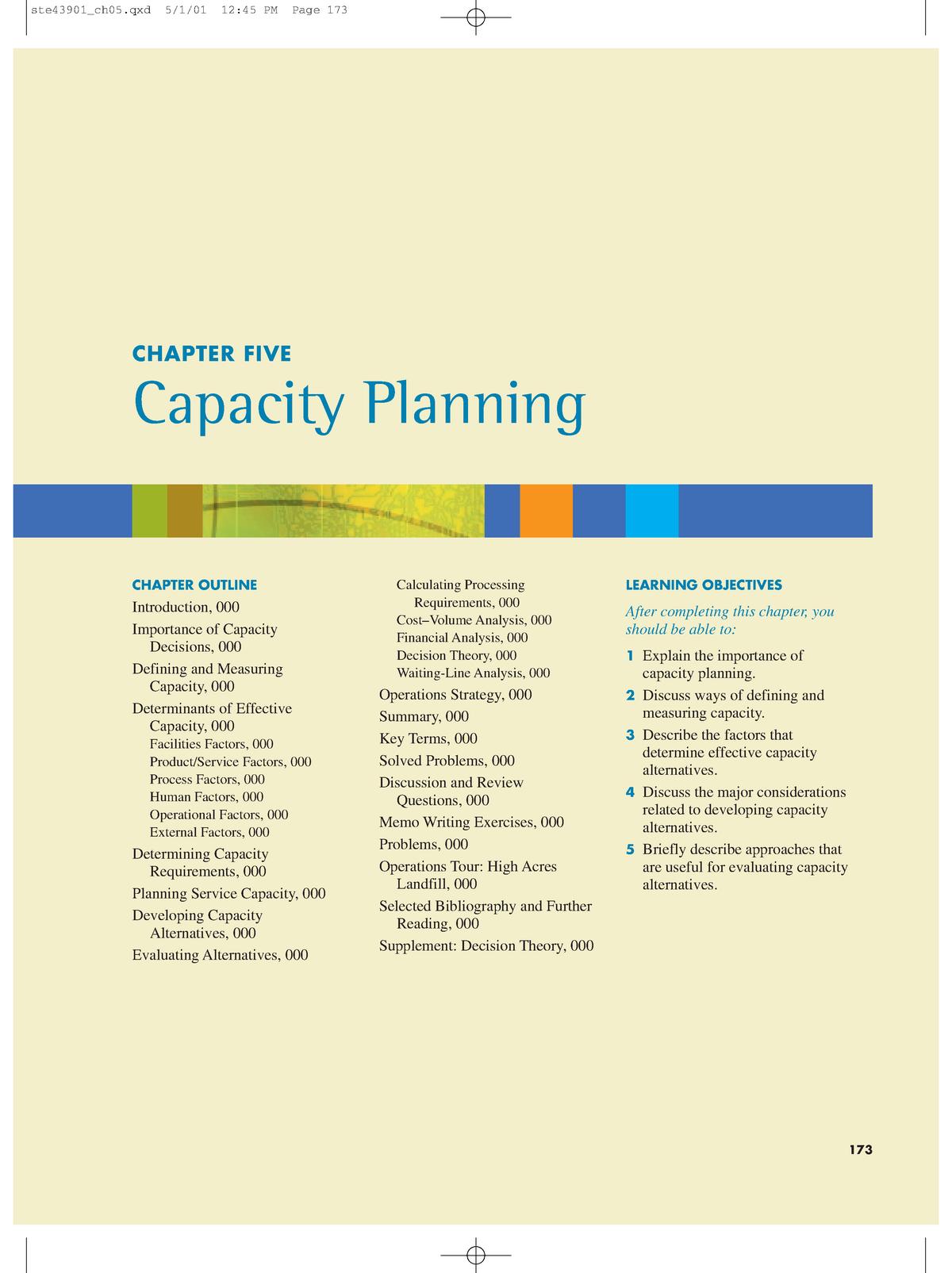 Capacity planning - Alaa - Strength of materials PRE5122