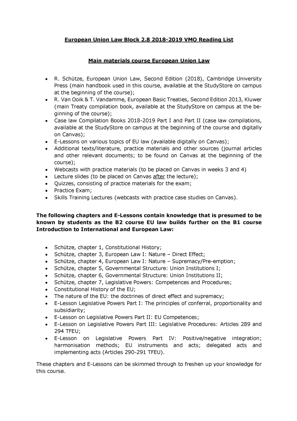 Reading+List+VMO+European+Union+Law+2018-2019 - RR202