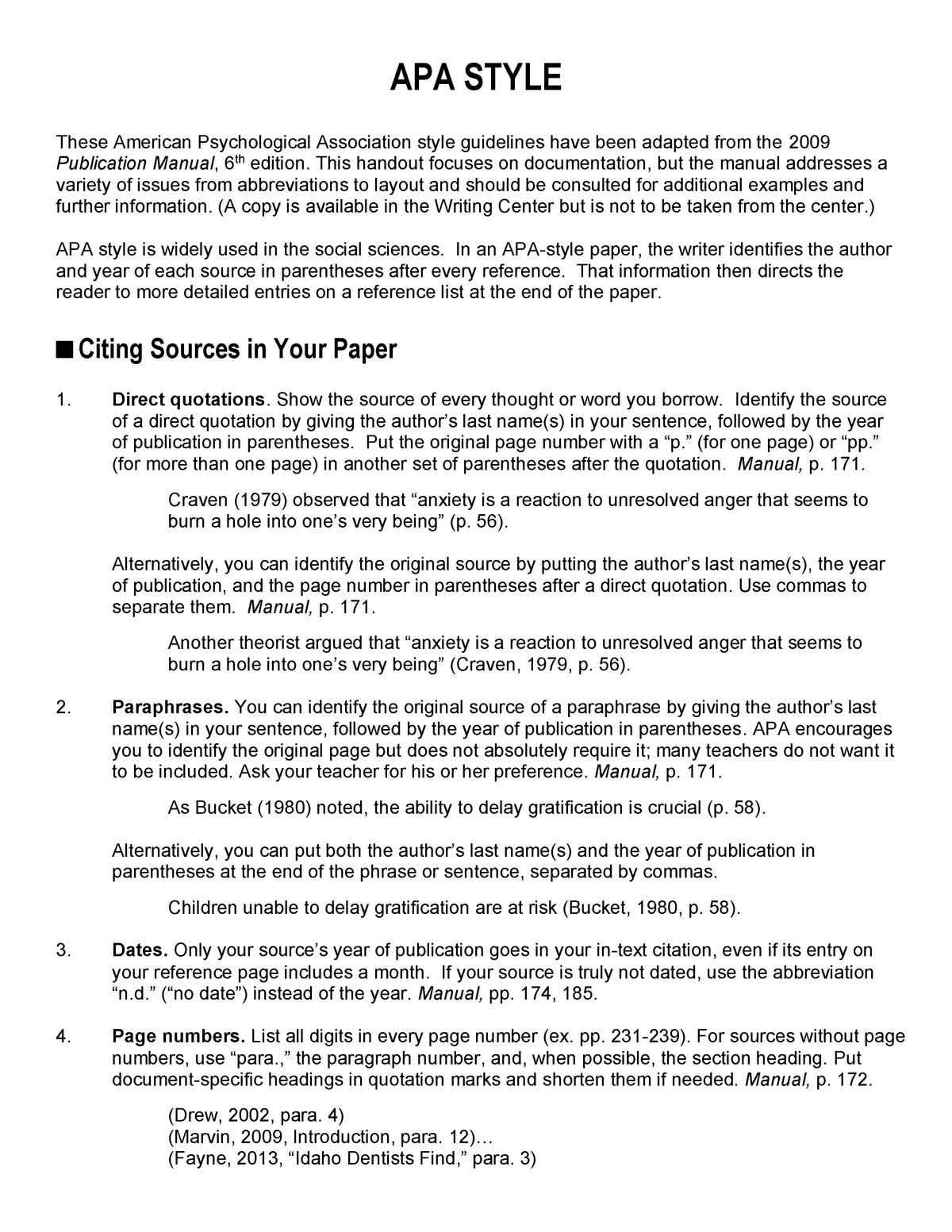 Apa Formatting Edsp 4203 Learners With Exceptionalities