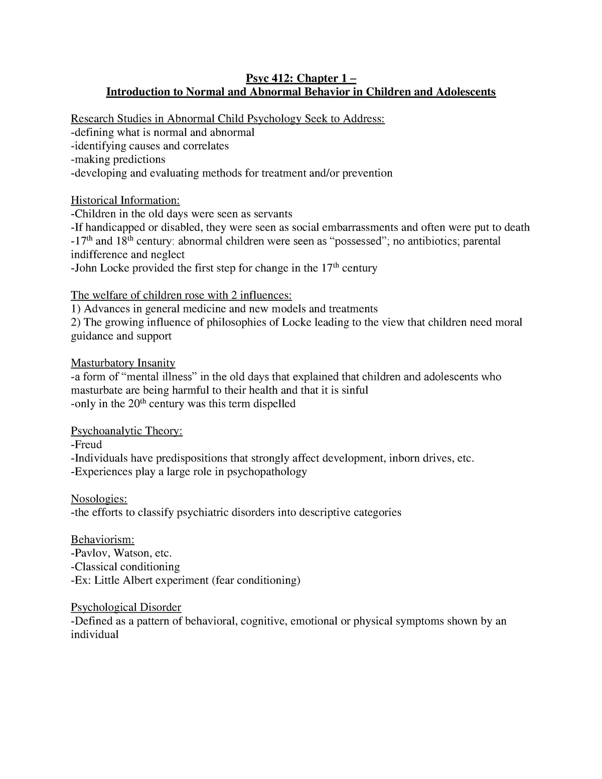 case study psychology example