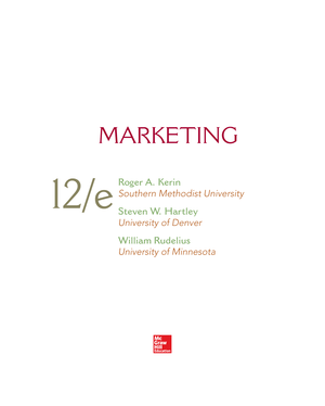 Marketing 12th Edition