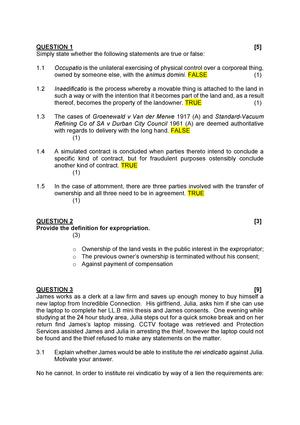 Exam 2016 - LPRO3724: Law of Property - StuDocu