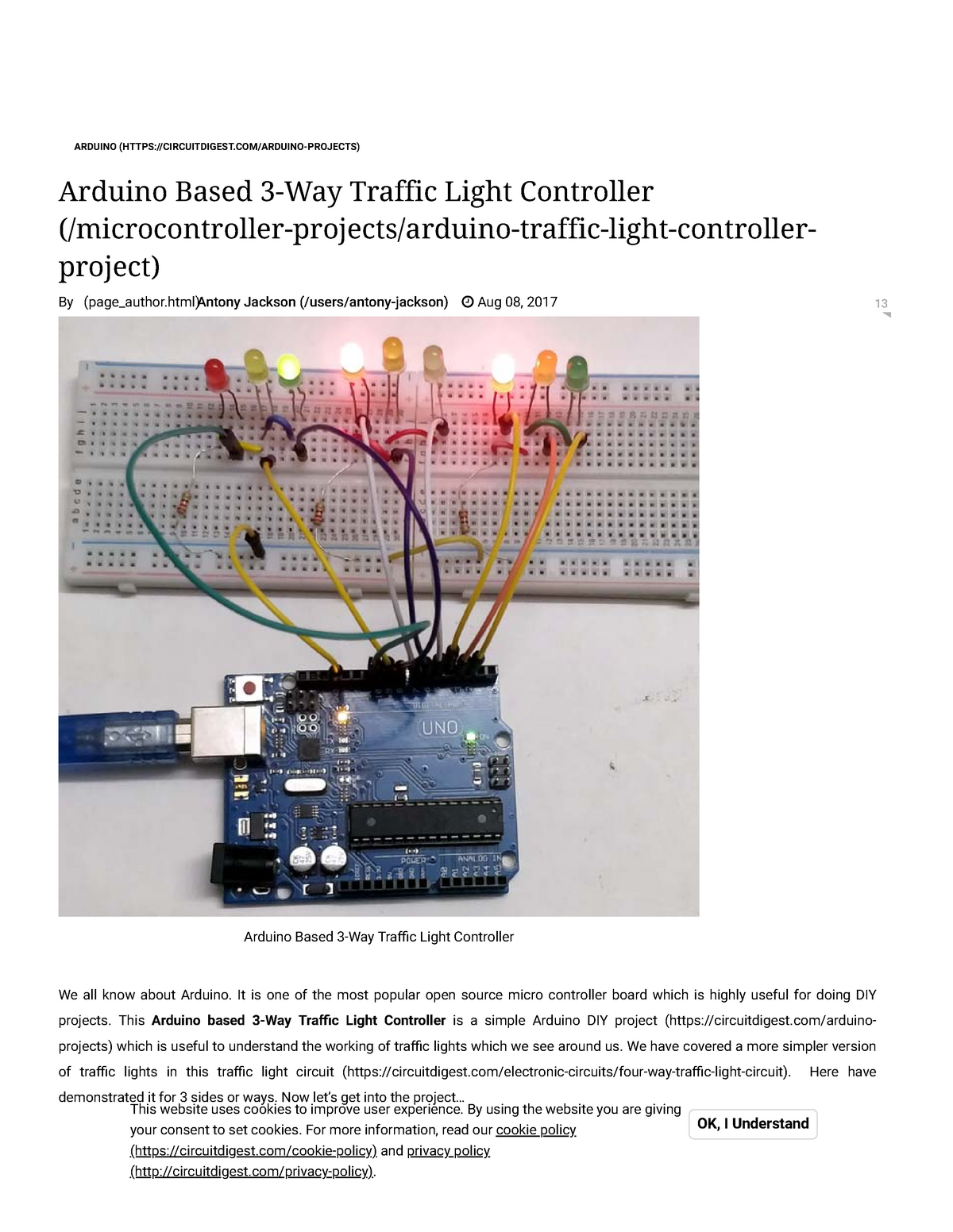 Arduino Traffic Light Controller Project With Circuit Diagram And Code Studocu
