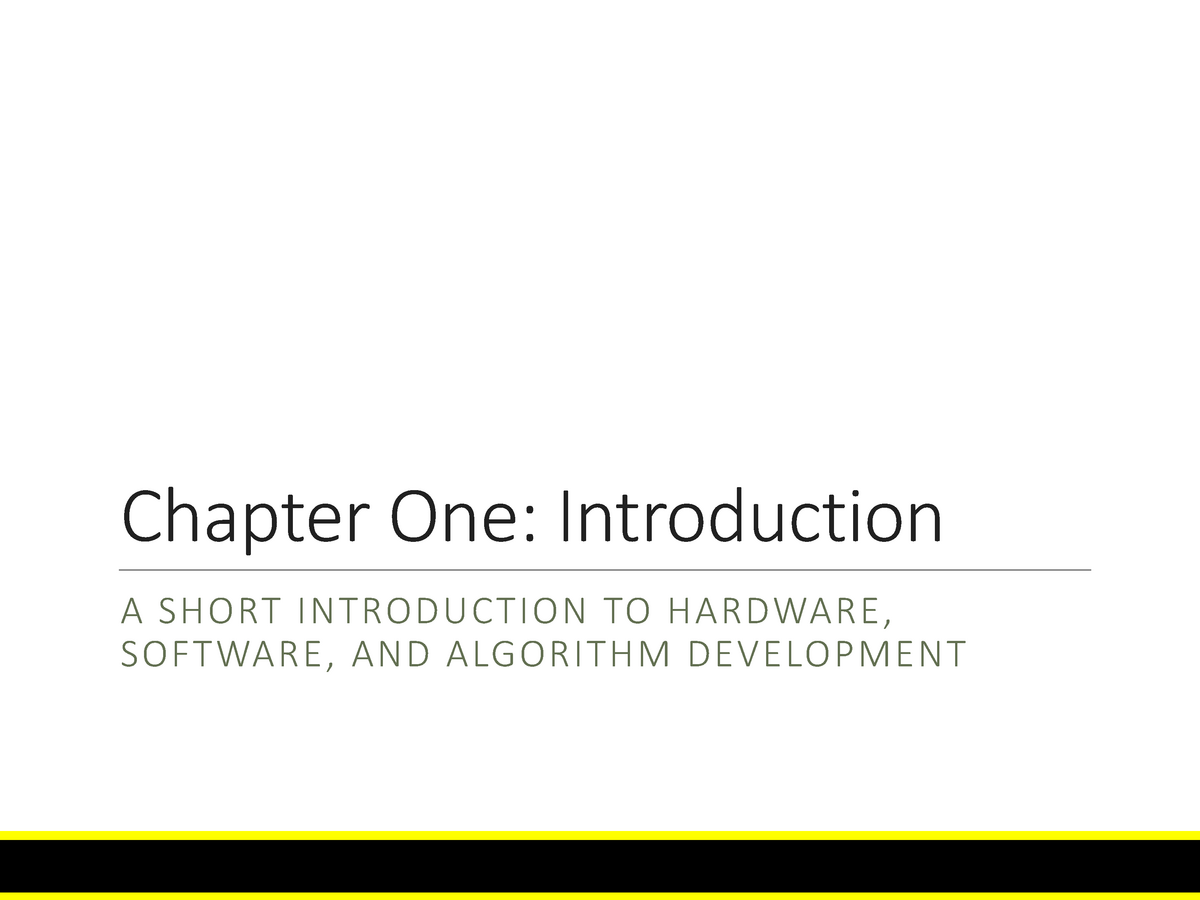 Computer Science - Lecture Notes, Complete Lectures, Chapter