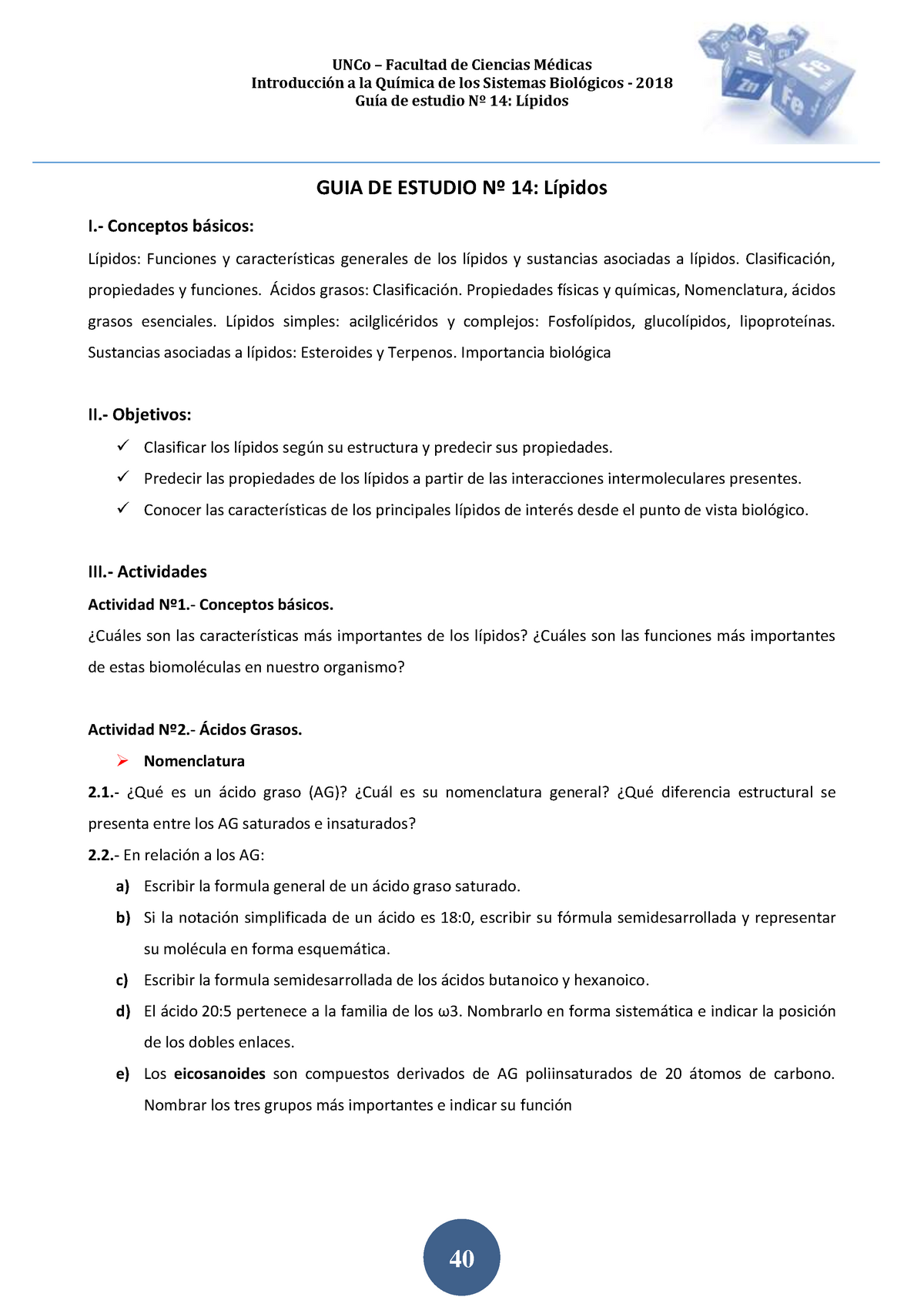 2018 Guia De Estudio Nº 14 Lípidos Uncoma Studocu