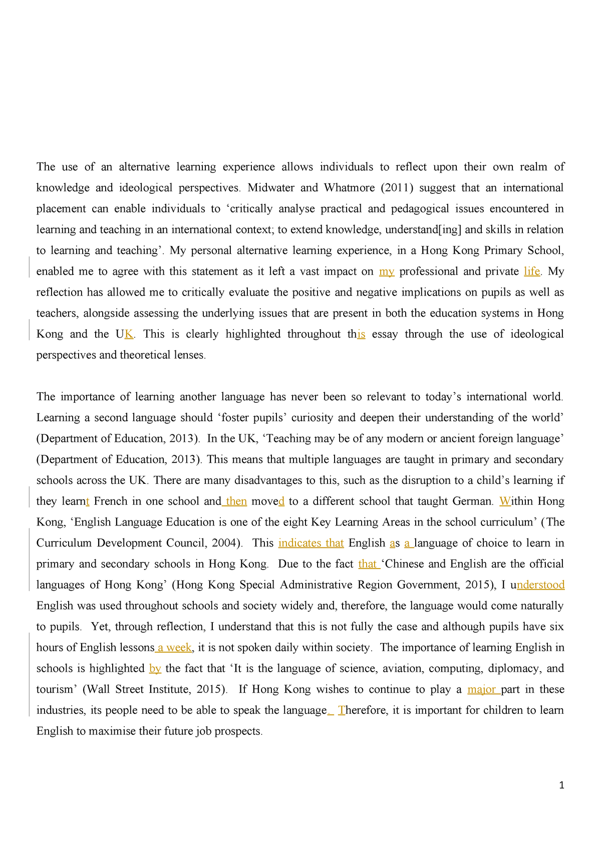 essay on importance of education wikipedia