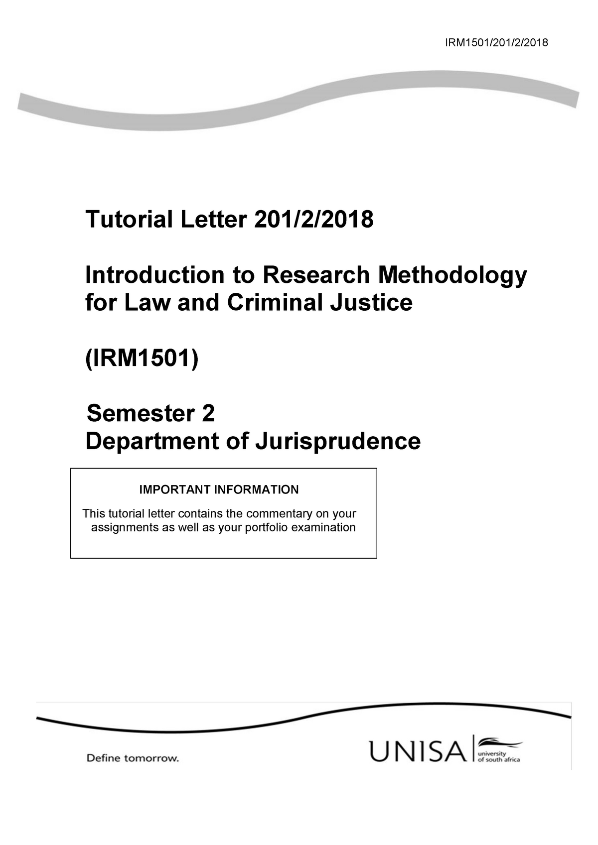 Irm1501 Assignment Introduction To Research Methodology Unisa Studocu