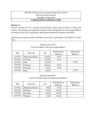 Mandatory Assignments Uum Studocu
