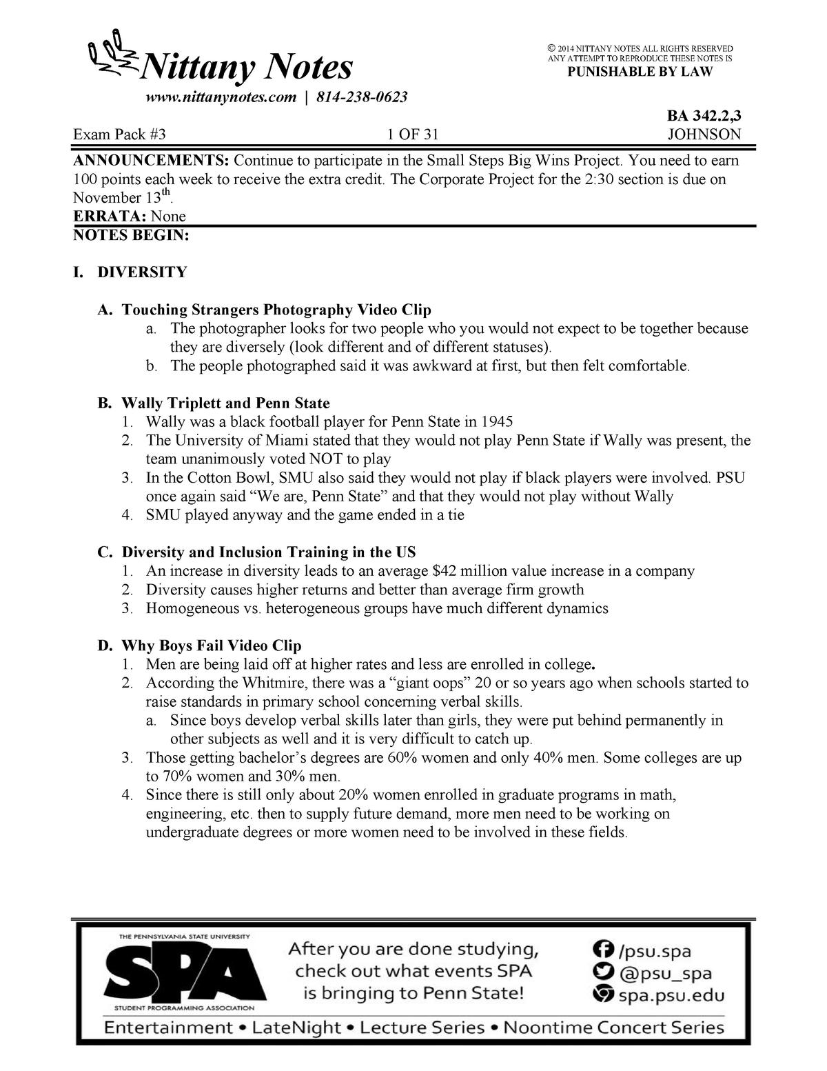 BA 342 Study Guide EXAM #2 - 342 B A - Penn State - StuDocu