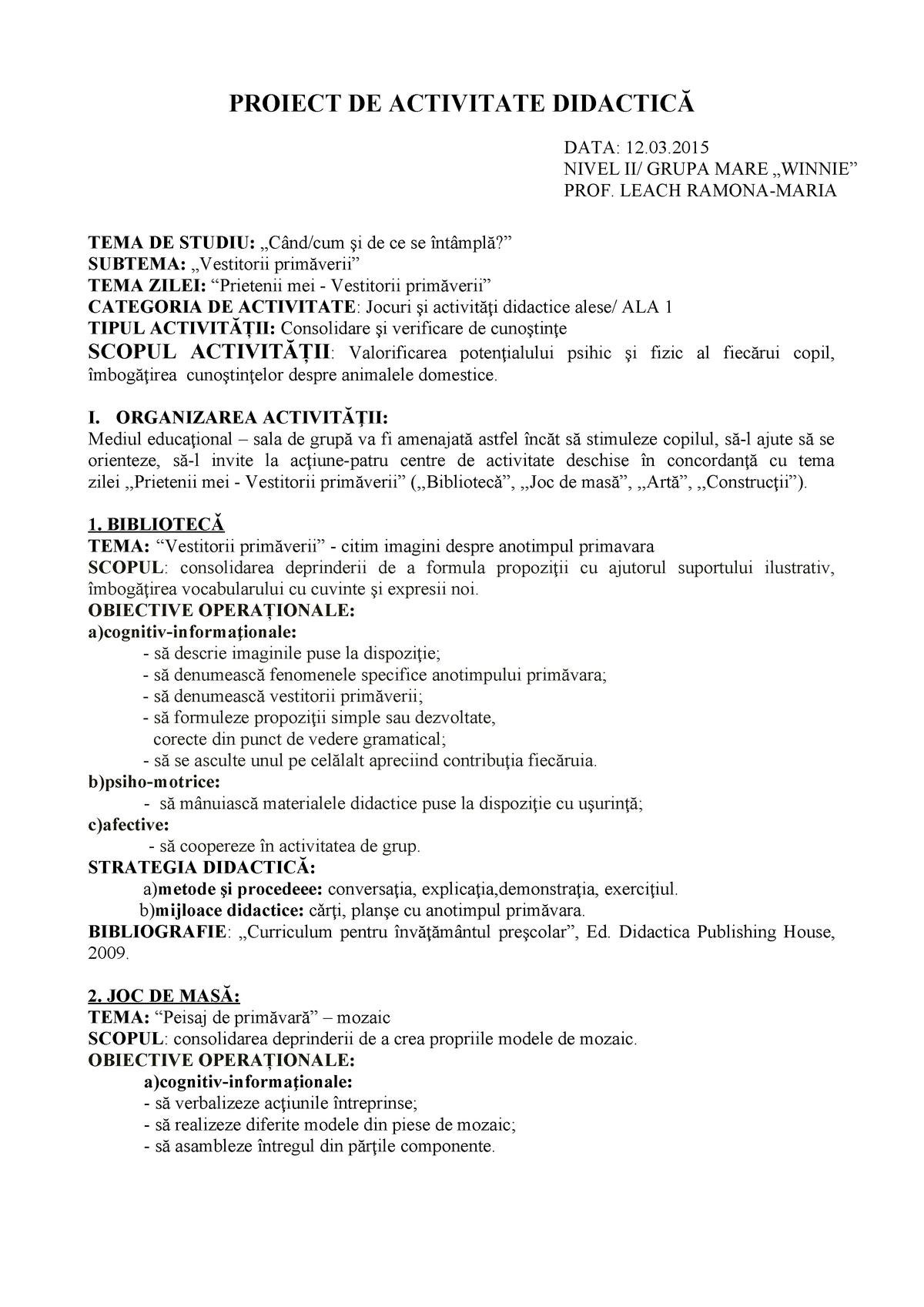 2 Ala 1 Pentru Ala Pedagogie Pedagogie Uoradea Studocu