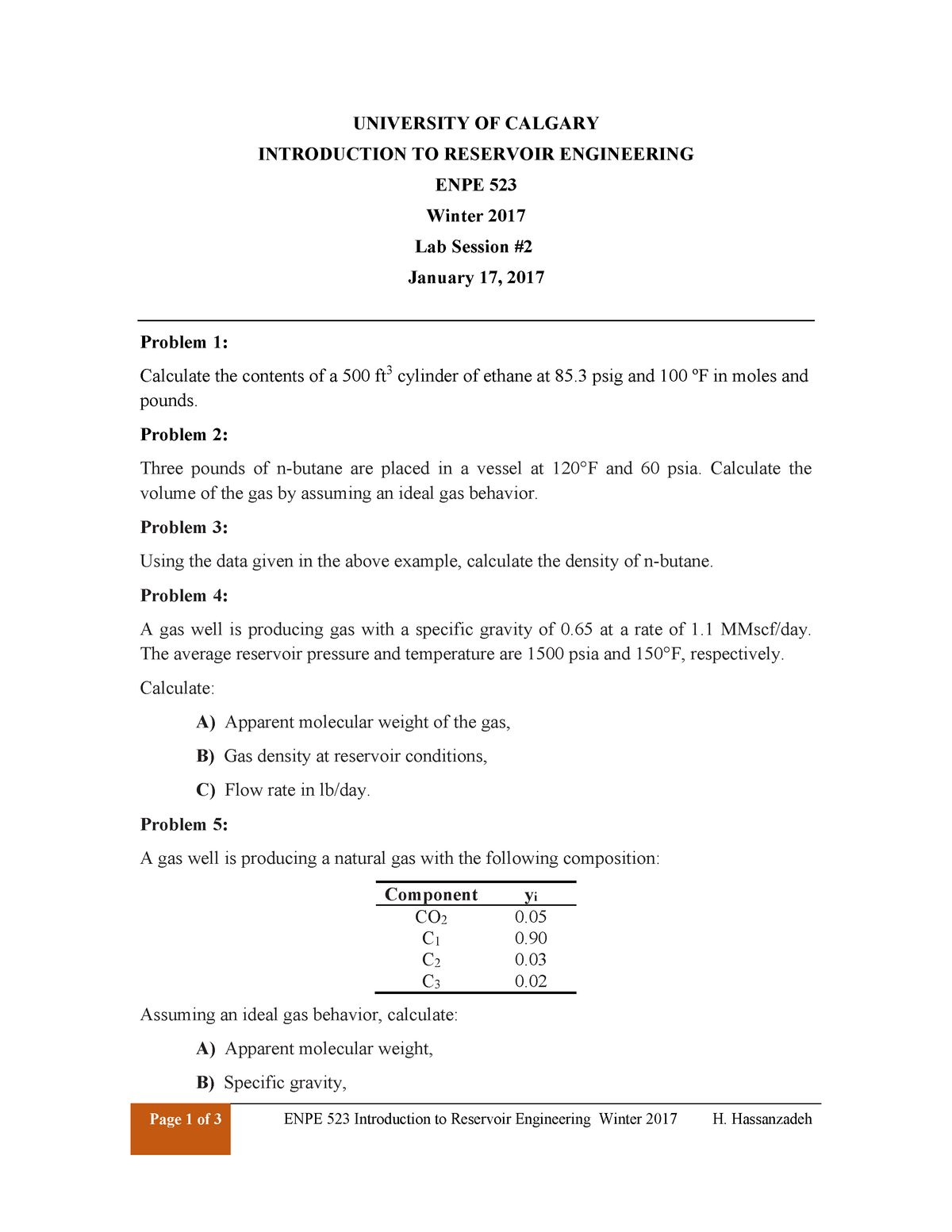 2-Lab problems  Oil and gas properties - Petroleum 523