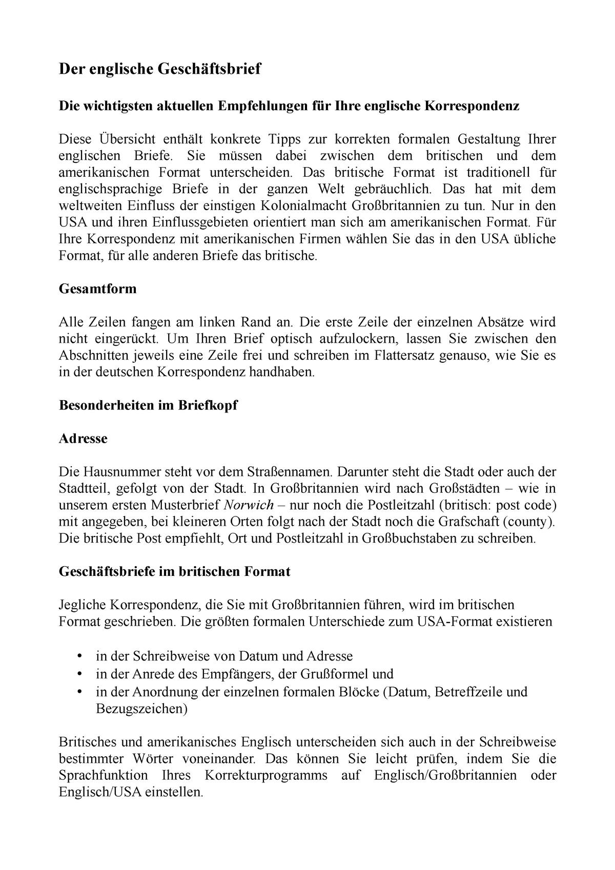 Brief Schreiben Englisch Page 2 Line 17qq Com 4
