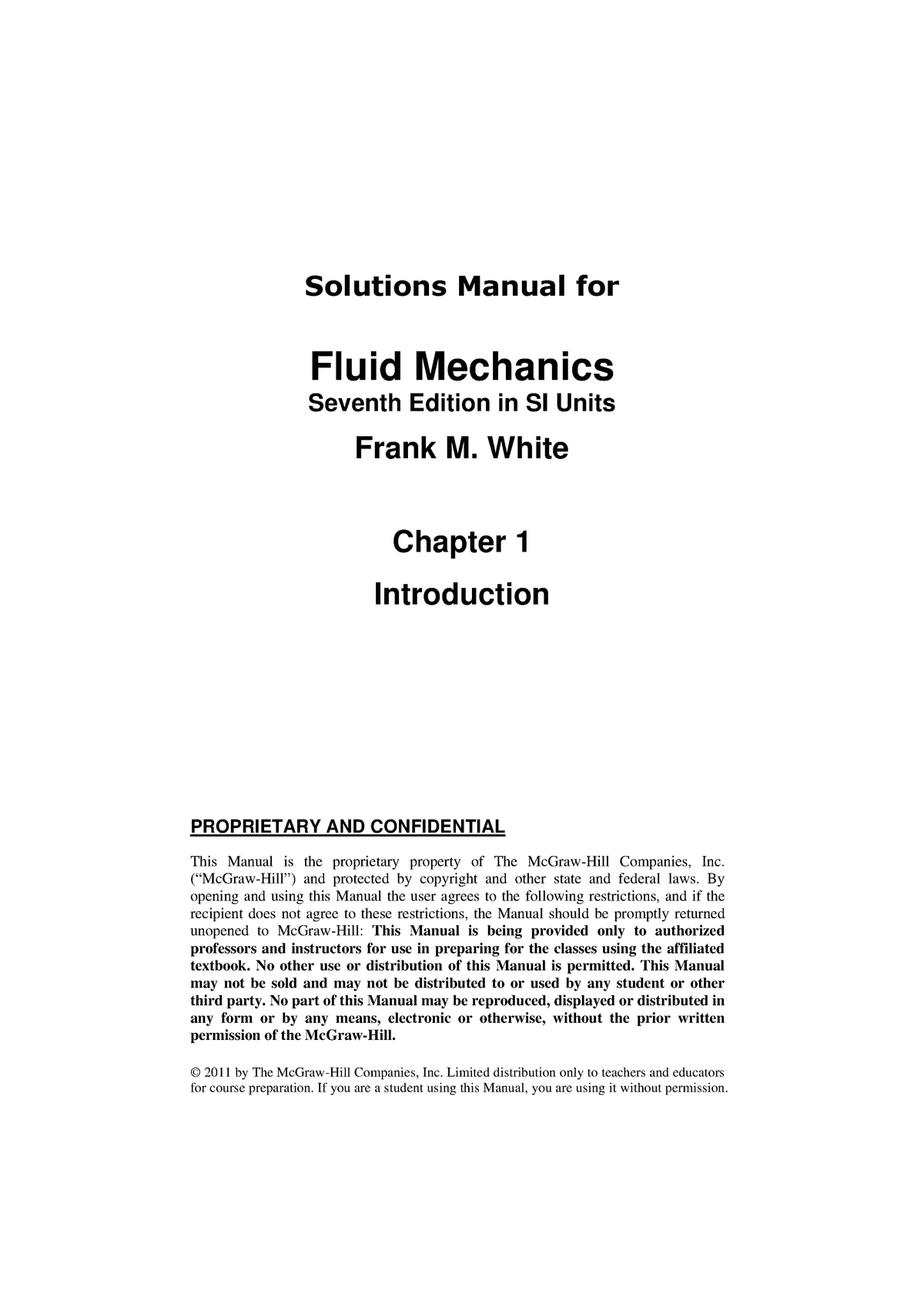 Book-solutions-fluid-mechanics - StuDocu
