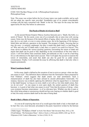 Cchu  Philosophical Essay  Cchu  The Best Things In Life  Cchu  Philosophical Essay  Cchu  The Best Things In Life A  Philosophical Exploration  Studocu Healthy Eating Essays also Health Promotion Essays  Phd Writing Help