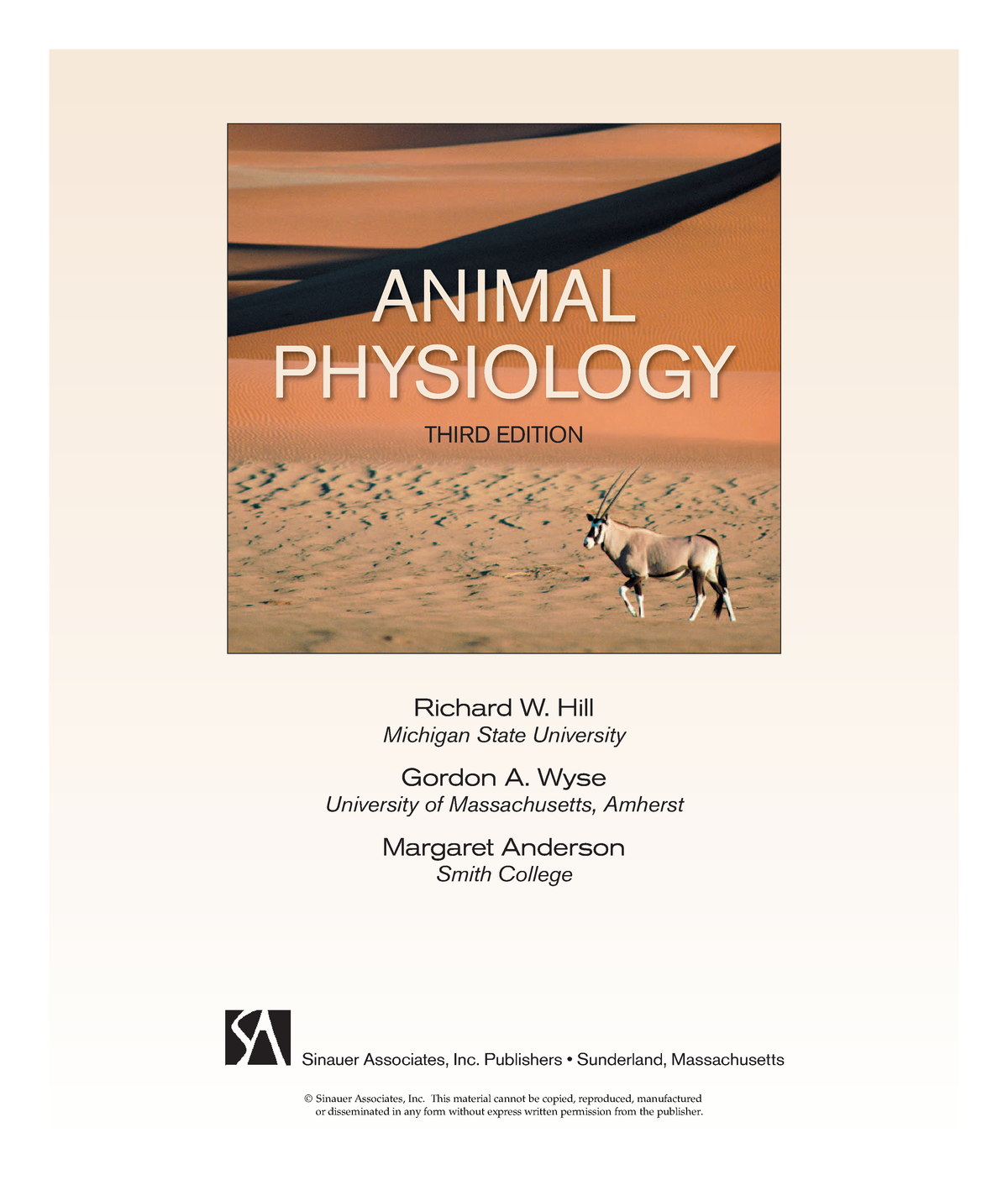 Animal Physiology 3 - StuDocu