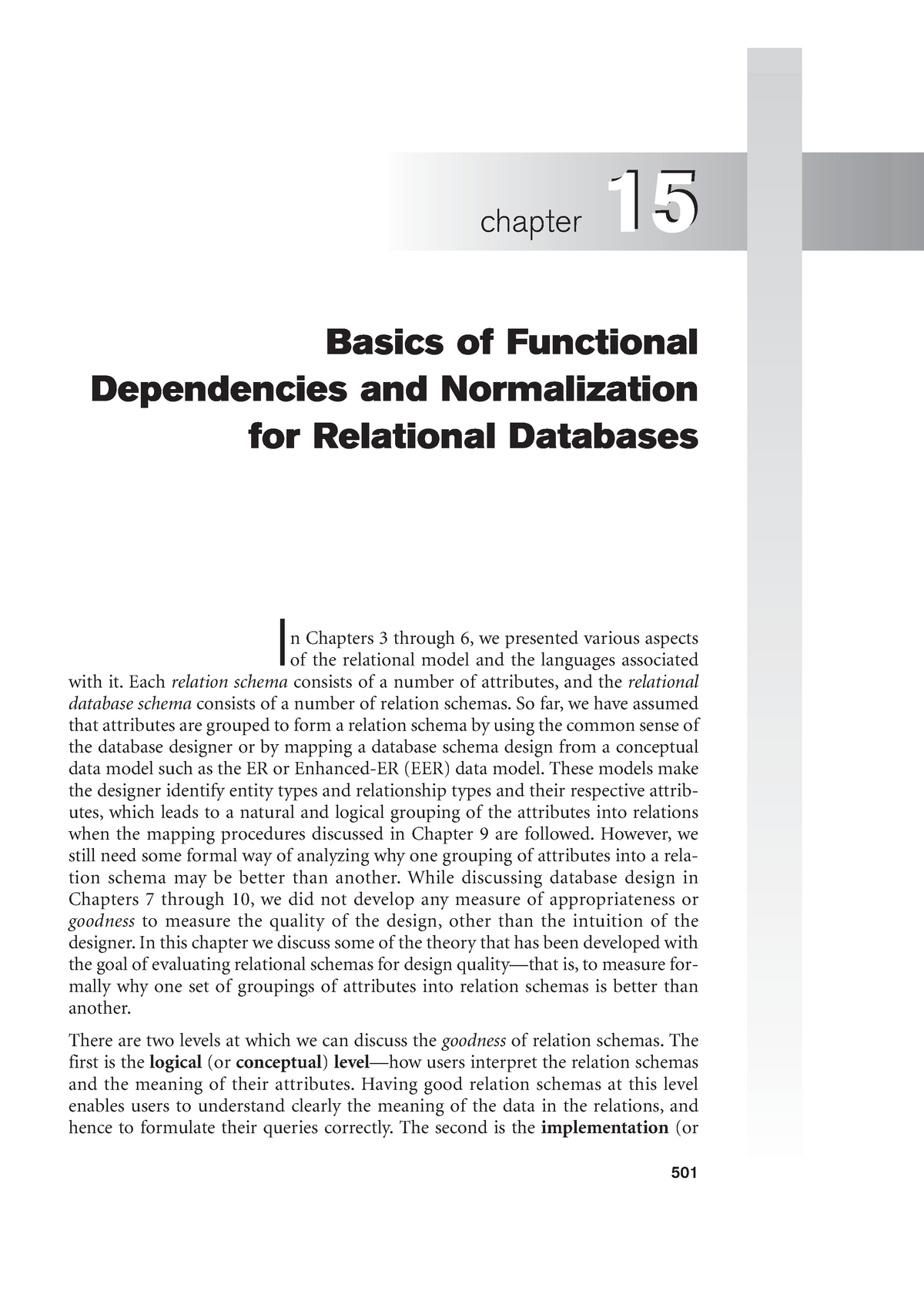 Chapter 15 Basics Of Functional Dependencies And Normalization For Relational Databases Studeersnel