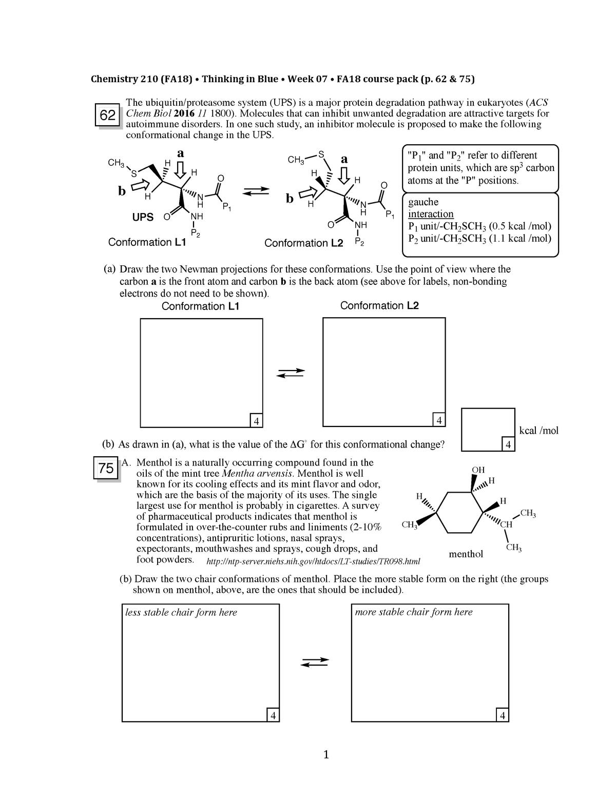 TIB210 Week 07 - CHEM 210: Structure and Reactivity I - StuDocu