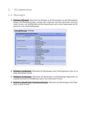 Zusammenfassung Oekologie SS 2011 vollständig - Ökologie