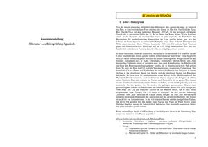 Literatur Zusammenfassung Spanische Literaturwissenschaften