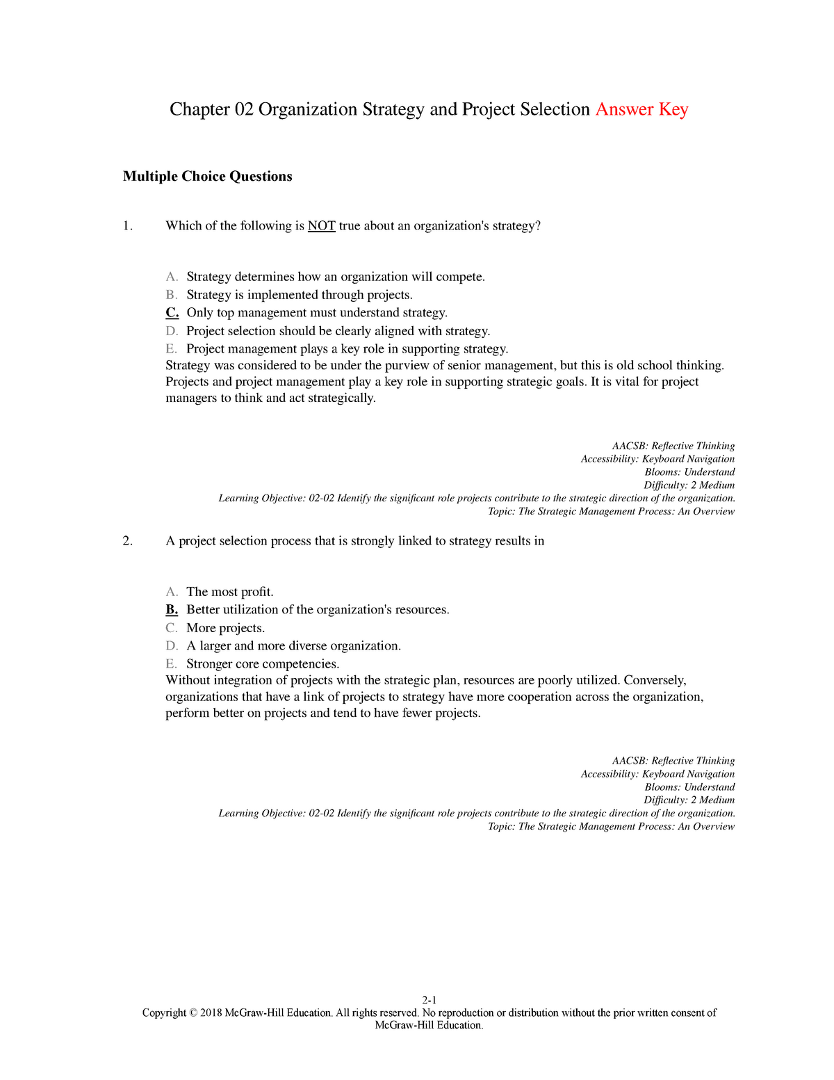 Project Management Question Paper 2018