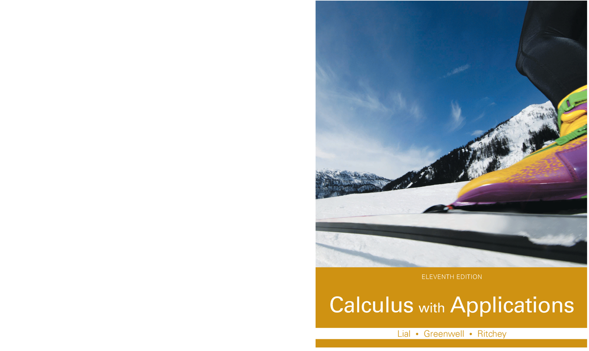 Calculus with Applications 11th Edition by Margaret L  Lial