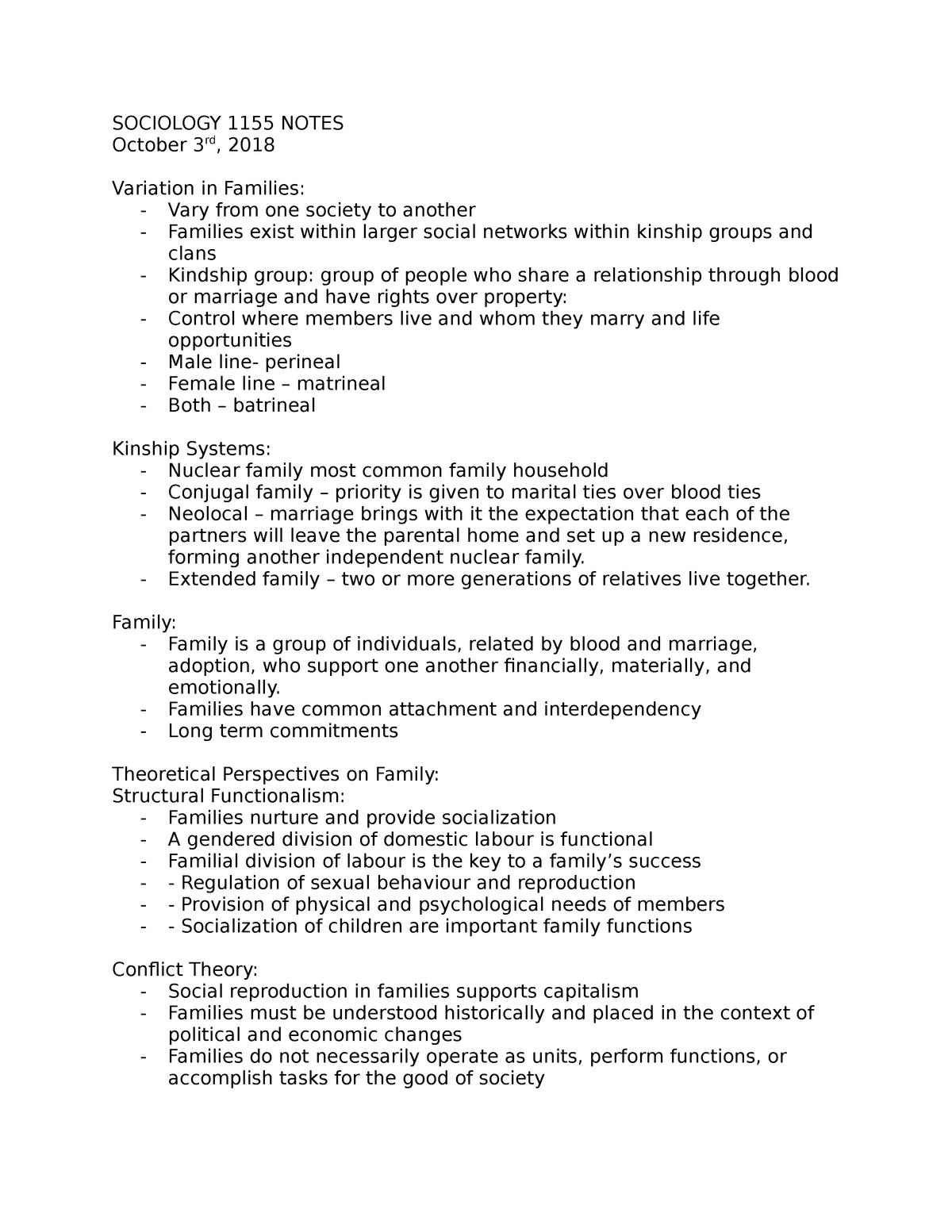 Soci 1155 Notes Week 5 Soci 1155 Social Issues Studocu