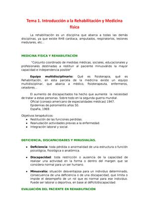 Rehabilitación - Apuntes - TODO - 20103051: Rehabilitación - StuDocu