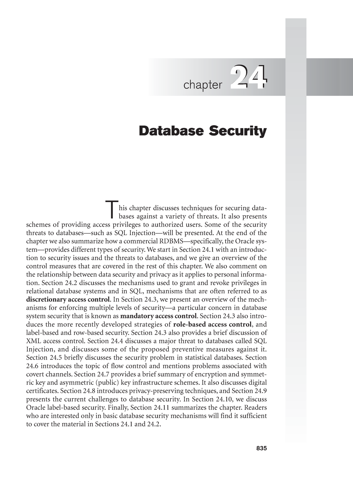 Chapter 24 - Database Security - TI2506: Information and