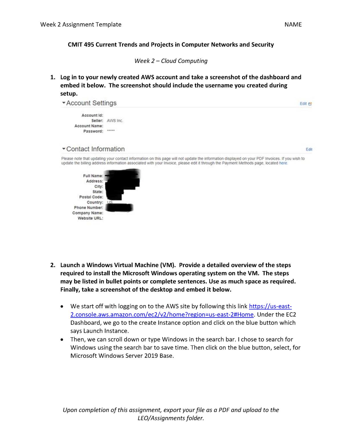 CMIT495 - Assignment 2 - CMIT 495 - UMUC - StuDocu