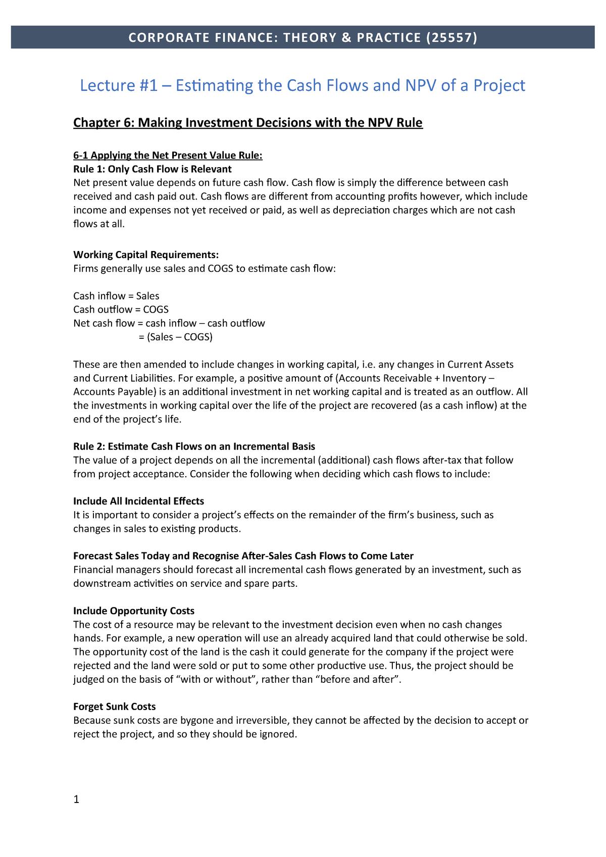 CFTP Notes: Topics 1-3 - 025557 - StuDocu