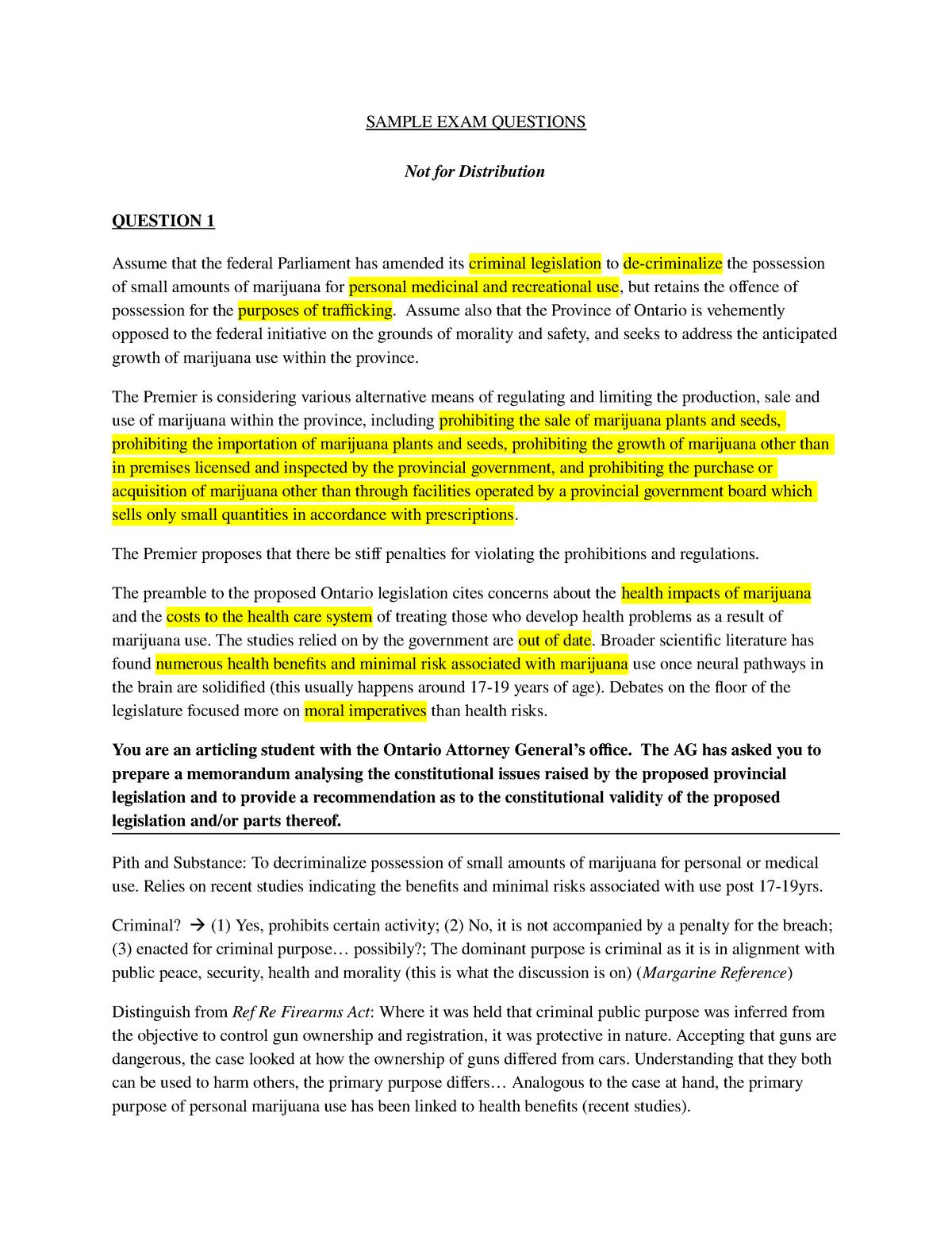 Exam 2018 - LAWS11-216: Constitutional Law - StuDocu