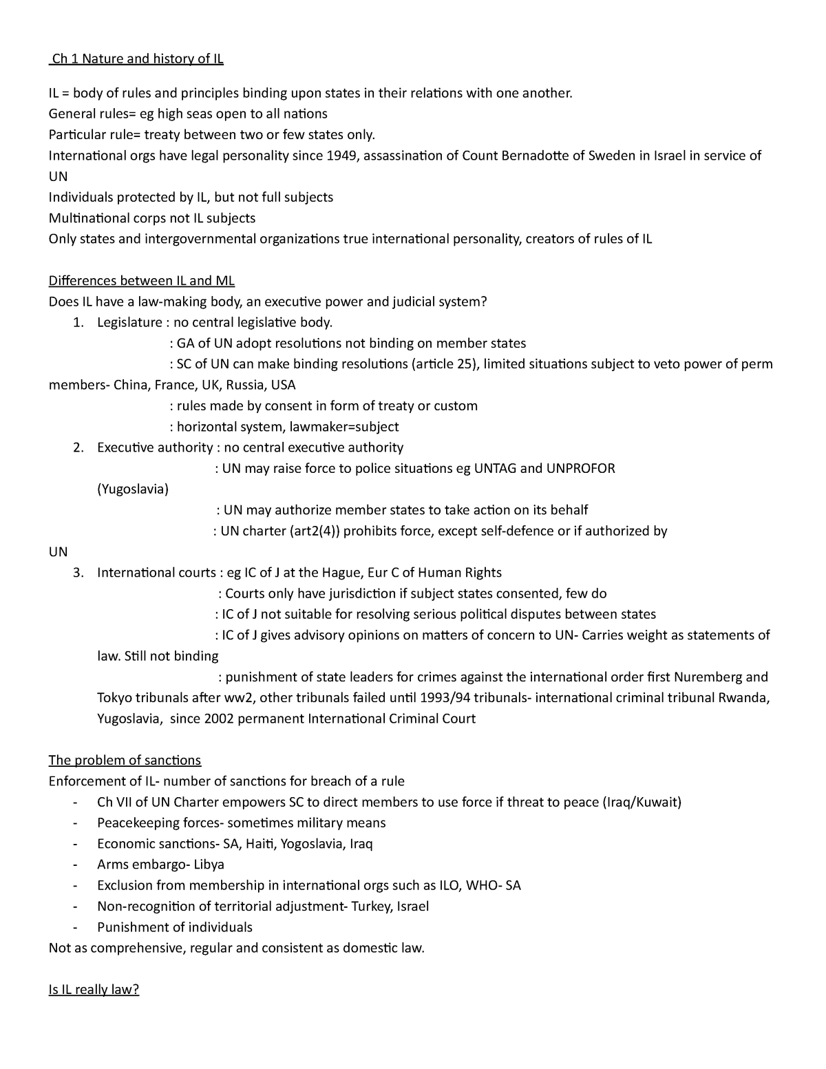 LCP4801-summaries - Public International law LAWS302 - StuDocu
