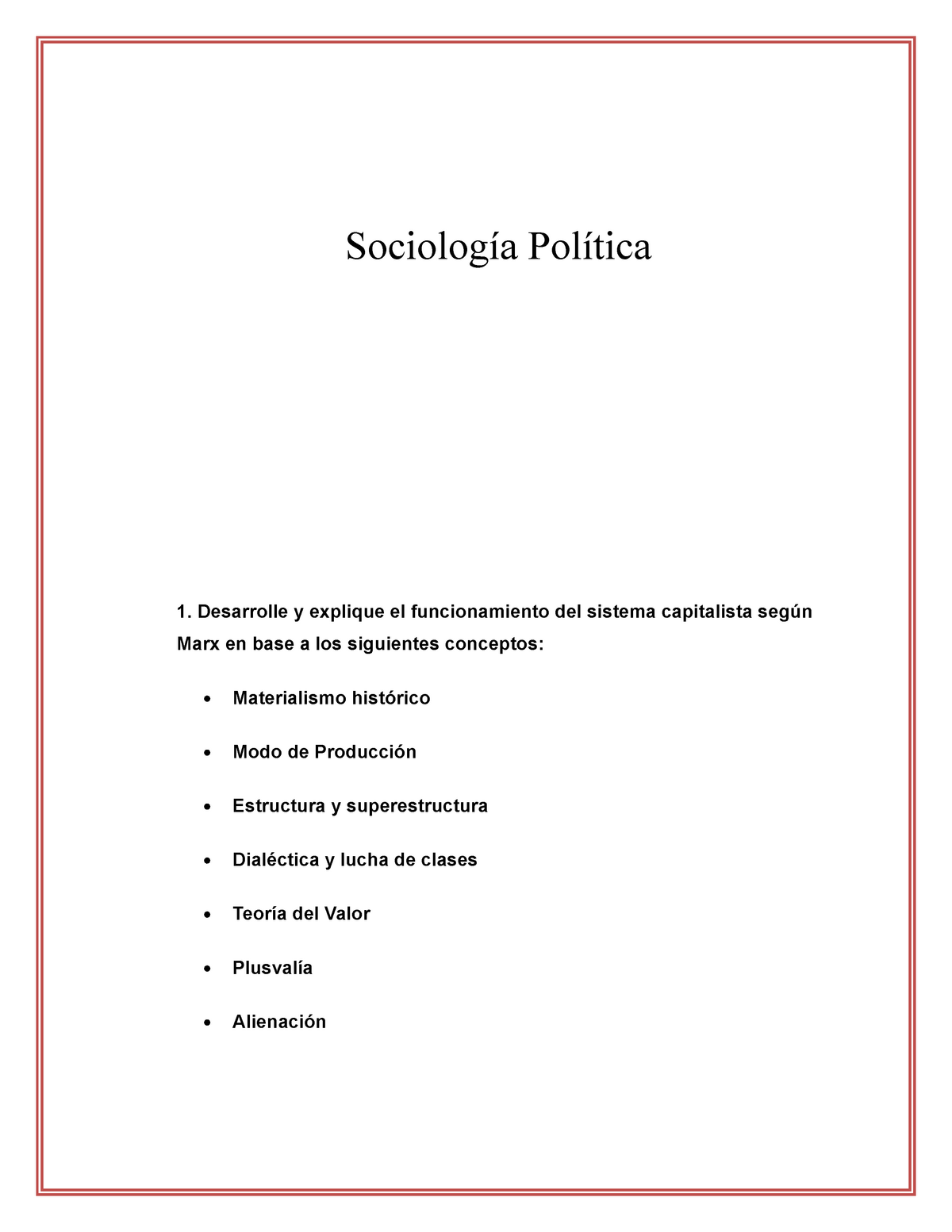 Examen Sociología Política Mayo 2016 Preguntas Y