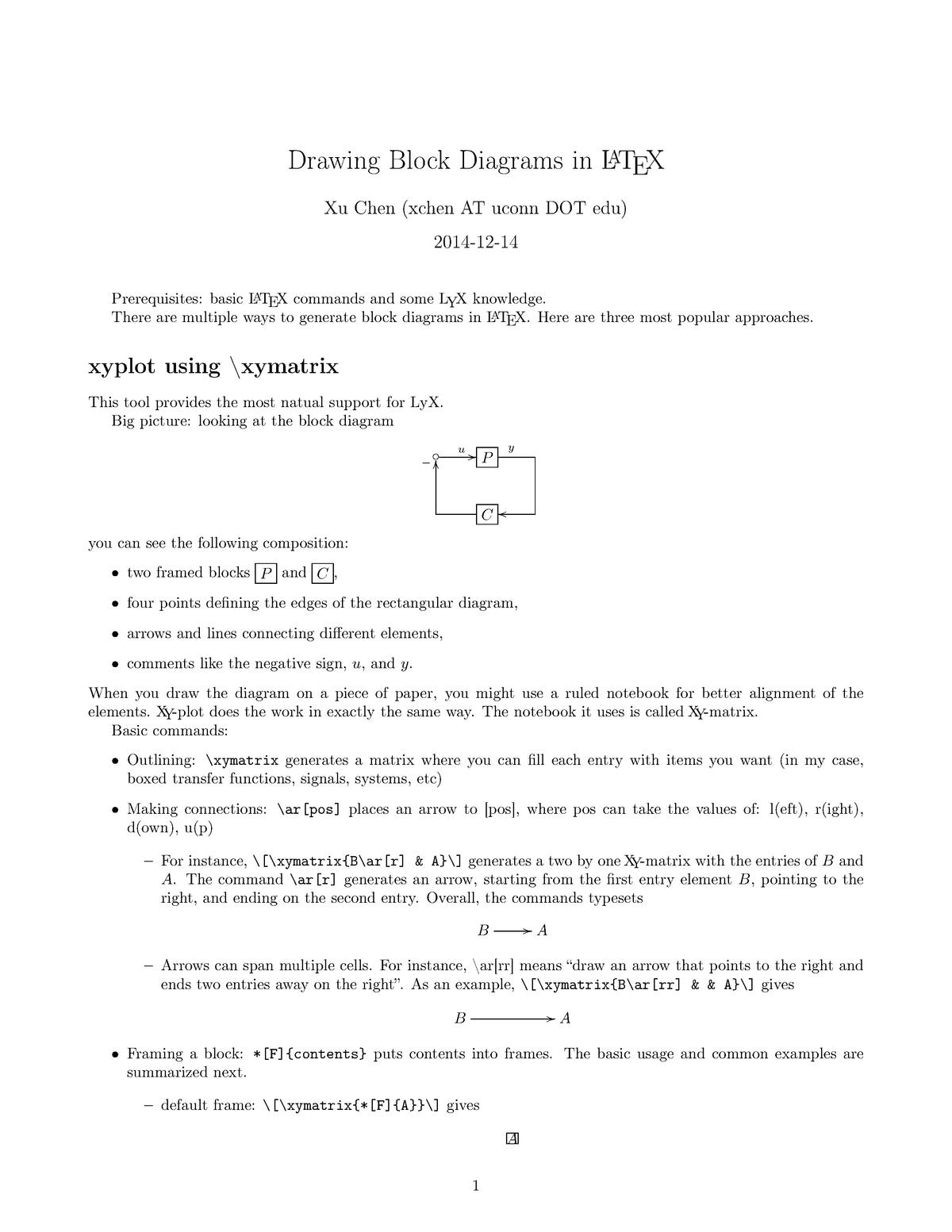 tutorial work - drawing block diagrams in latex - me 5895: special topics in  mech engr - studocu
