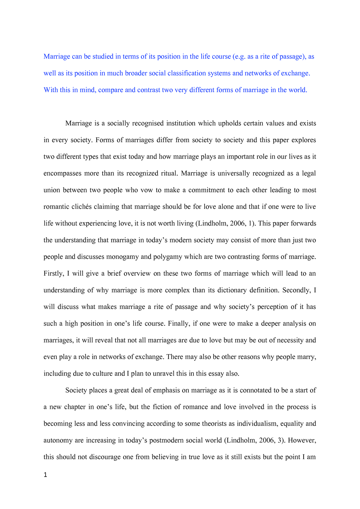 is marriage still relevant in todays society essay